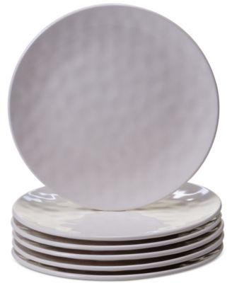 6-Pc. Cream Melamine Salad Plate Set