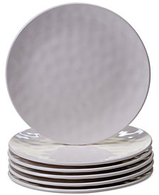 Certified International 6-Pc. Cream Melamine Salad Plate Set