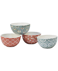 Certified International Country Weekend Ice Cream Bowls, Set of 4