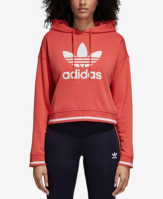 Adidas iconos activos cropped Hoodie Tops  mujer Macy 's