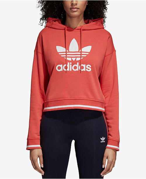 df3139bd0bb adidas Active Icons Cropped Hoodie & Reviews - Tops - Women ...