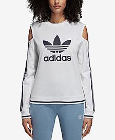 adidas Originals Active Icons Cold-Shoulder Sweatshirt