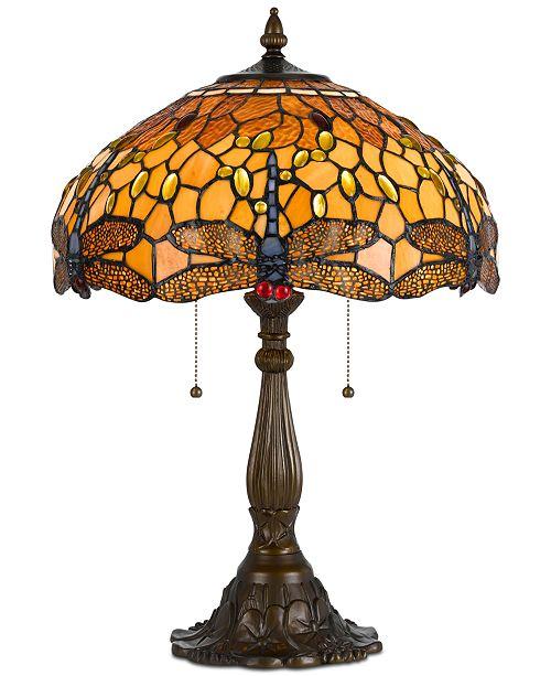 Cal Lighting 2-Light Tiffany Table Lamp