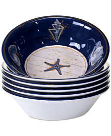 Certified International Calm Seas Set of 6 All-Purpose Bowls