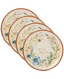 Herb Blossom Dinner Plates, Set of 4