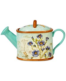 Certified International 2-Pc. Herb Blossom 3-D Watering Can Lidded Teapot