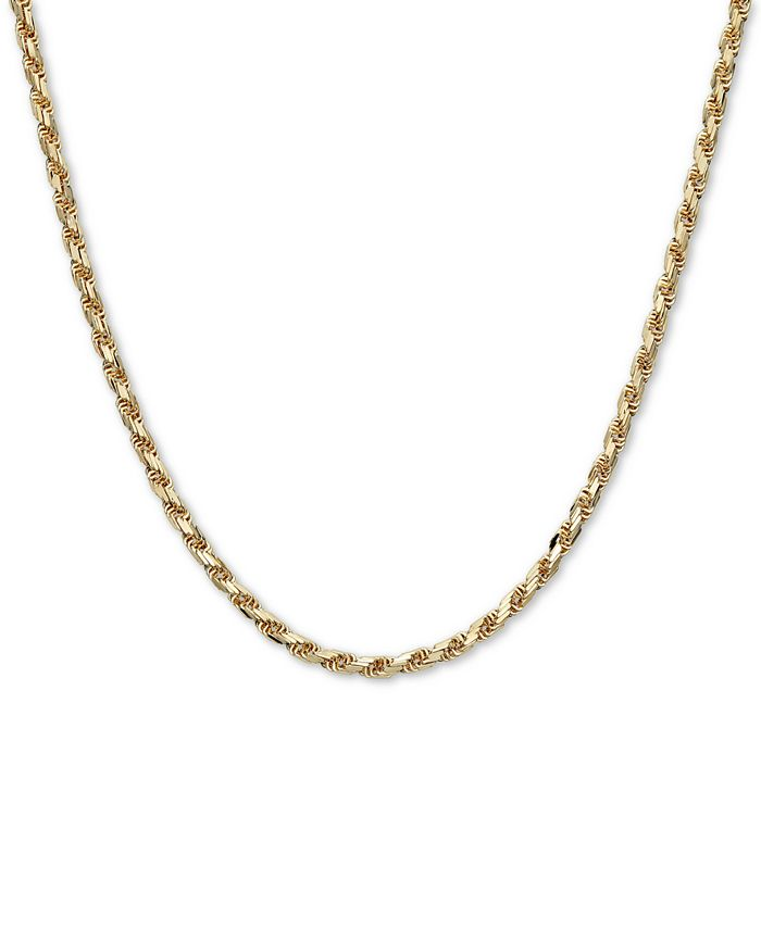 """Macy's - Rope 22"""" Chain Necklace in 14k Gold"""