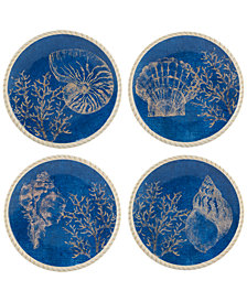 Certified International Seaside Dessert Plates, Set of 4