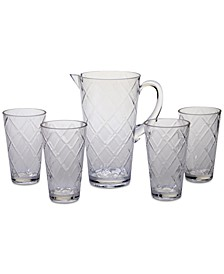 Clear Diamond Acrylic 5-Pc. Drinkware Set