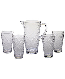Certified International Clear Diamond Acrylic 5-Pc. Drinkware Set