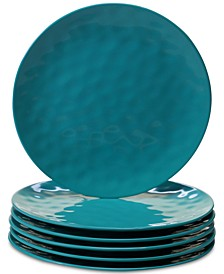 6-Pc. Teal Melamine Dinner Plate Set