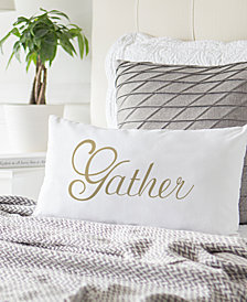 """Cathy's Concepts Gather 9"""" x 18"""" Lumbar Decorative Pillow"""