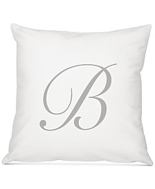 """Cathy's Concepts Personalized Script Initial 16"""" Square Decorative Pillow"""