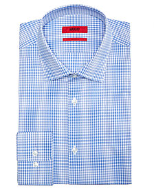 Hugo Boss Men's Slim-Fit Aqua Window Pane Dress Shirt