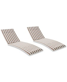 Brayden Outdoor Chaise Lounge Cushion (Set Of 2), Quick Ship