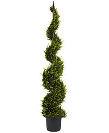 Nearly Natural 5' Artificial Cypress Spiral Tree