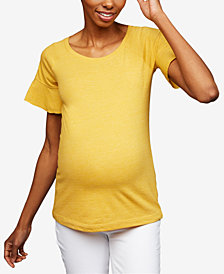 A Pea In The Pod Maternity Flutter-Sleeve T-Shirt