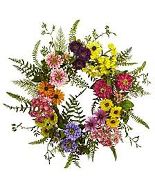 Mixed Flower Wreath