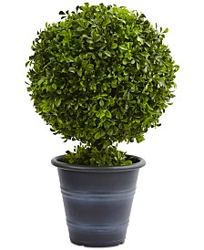 "Nearly Natural 23"" Boxwood Ball Artificial Topiary"