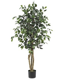 Nearly Natural 4' Artificial Ficus Tree