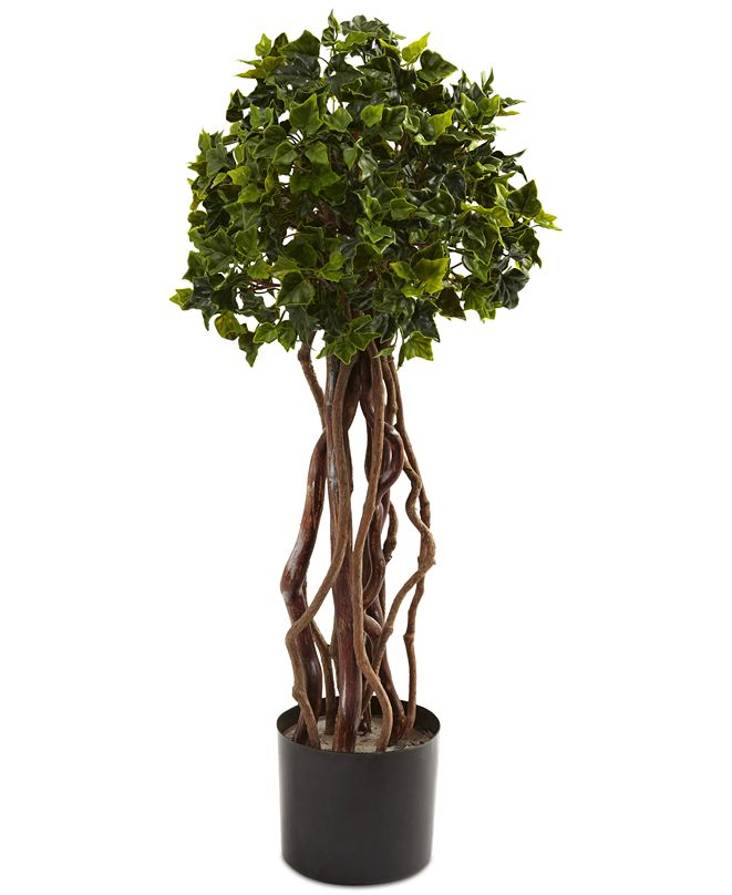 Nearly Natural 2.5' English Ivy UV-Resistant Indoor/Outdoor Topiary