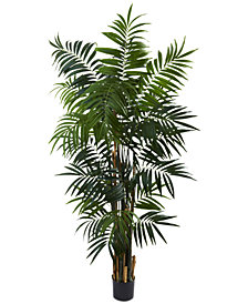 Nearly Natural 6' Artificial Bulb Areca Palm Tree