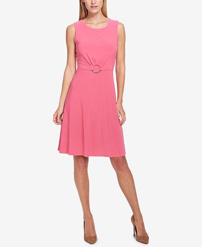Tommy Hilfiger Embellished Fit & Flare Dress