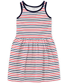 Carter's Little & Big Girls Striped Cotton Tank Dress