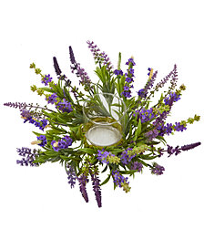 Nearly Natural Lavender Artificial Candelabrum Arrangement