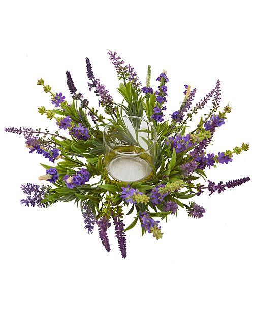 Nearly Natural Lavender Artificial Candelabrum Arrangement