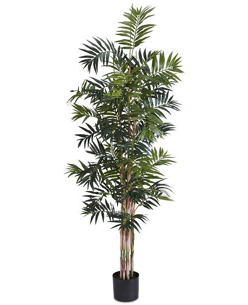 Nearly Natural 6' Artificial Bamboo Palm Silk Tree