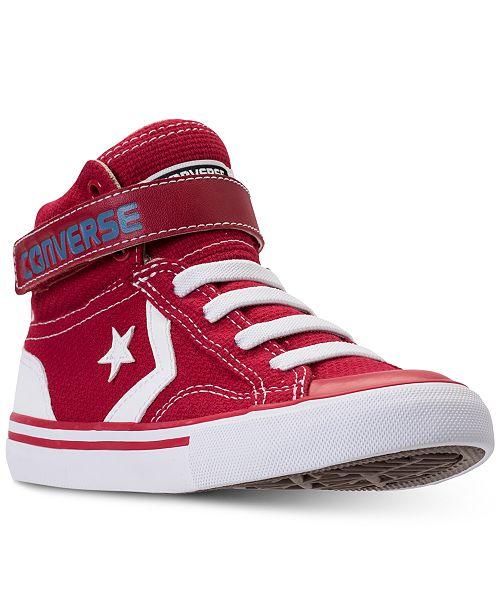 81c3c4b823e8 ... Converse Little Boys  Pro Blaze Strap Casual Sneakers from Finish ...