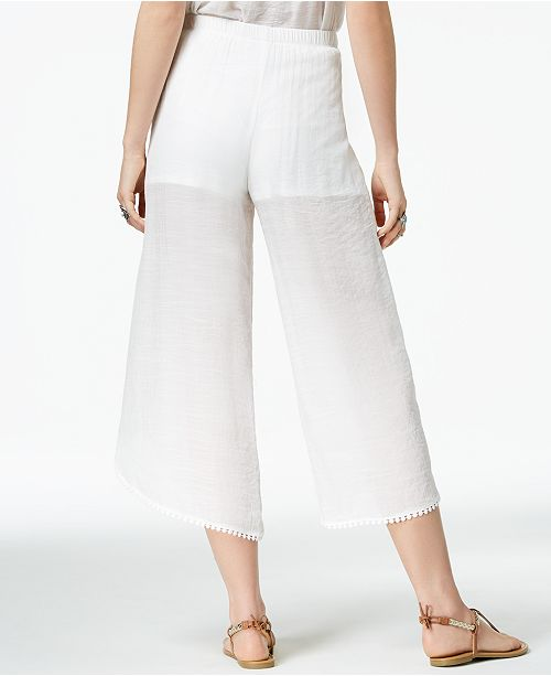 Pants BCX Juniors' Wrap White Cropped Yx6fqtw7