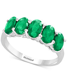 EFFY® Emerald Ring (1-2/3 ct. t.w.) in Sterling Silver