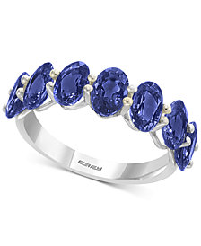 EFFY® Sapphire Band in (4 ct. t.w.) in 14k White Gold