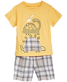 First Impressions Baby Boys Graphic-Print Cotton T-Shirt & Shorts, Created for Macy's