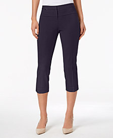 Alfani Petite Hardware Capri Pants, Created for Macy's