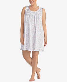 Eileen West Plus Size Ruffled-Trim Knit Chemise