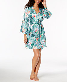 Thalia Sodi Tropical-Print Satin Wrap, Created for Macy's
