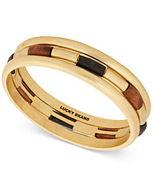 Lucky Brand Gold-Tone 3-Pc. Set Wood Bangle Bracelets