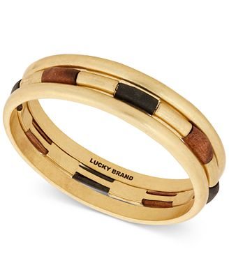 Lucky Brand Wood Bangle Set Bracelet (Gold) Bracelet rJcoD