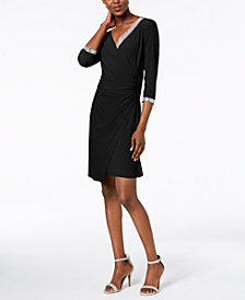 MSK Embellished Wrap Dress