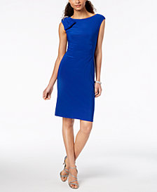 Jessica Howard Embellished-Bow Sheath Dress