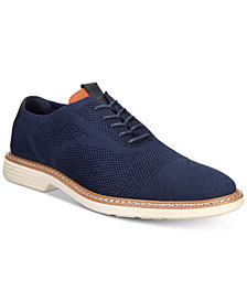 Alfani Men's Varick Comfort FLX Textured Knit Oxfords, Created for Macy's