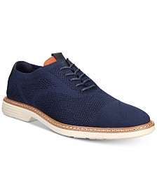 Alfani Men's Varick Alfatech Comfort FLX Textured Knit Oxfords, Created for Macy's