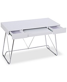 Parma Matte White Computer Desk, Quick Ship