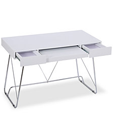 Parma Matte White Computer Desk, Quick Ship