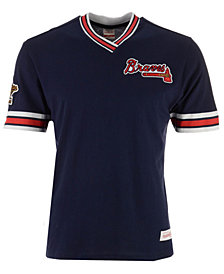 Mitchell & Ness Men's Atlanta Braves Coop Overtime Vintage T-Shirt
