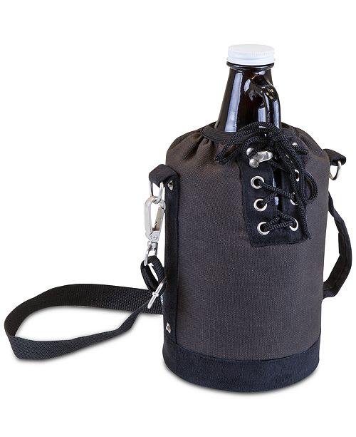 Picnic Time Legacy® by Insulated Gray & Black Growler Tote
