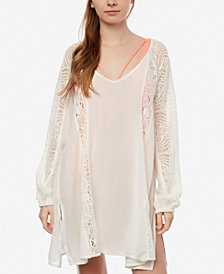 O'Neill Juniors' Lace Cut-Out Dress Cover-Up
